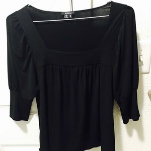 XOXO Black blouse with puffy sleeves - S